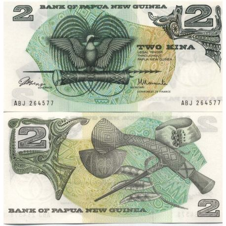 Papouasie Nlle Guinee - Pk N° 1 - Collection billet de 2 Kina