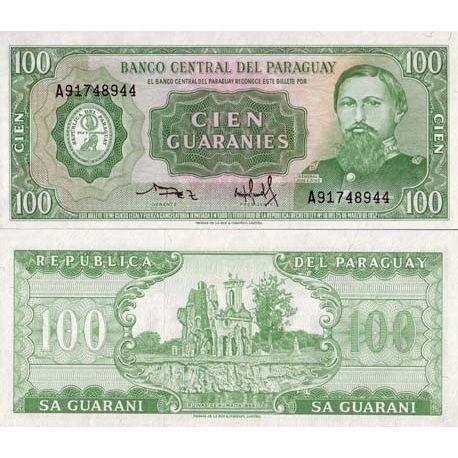 Billets banque Paraguay Pk N° 205 - 100 Guaranis
