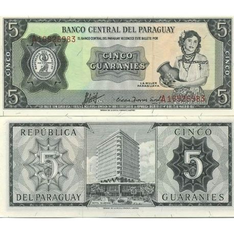 Paraguay - Pk # 195 - Ticket 5 Guarani