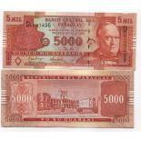Billet de collection Paraguay Pk N° 223 - 5000 Guaranies