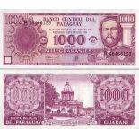 Precioso de billetes Paraguay Pick número 221 - 1000 Guarani