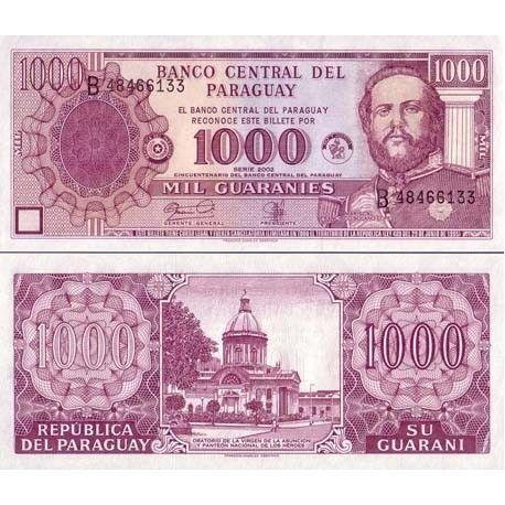 Billets de banque PARAGUAY Pk N° 221 - 1000 Guaranies