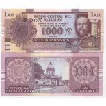 Banknote Paraguay Pick number 222 - 1000 Guarani