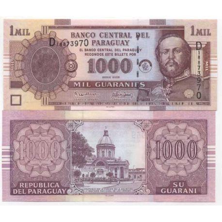 Paraguay - Pk # 222 - ticket 1000 Guaranies