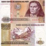 Precioso de billetes Perú Pick número 134 - 500 Sol