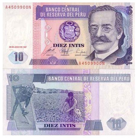 Billets banque perou Pk N° 129 - 10 Intis