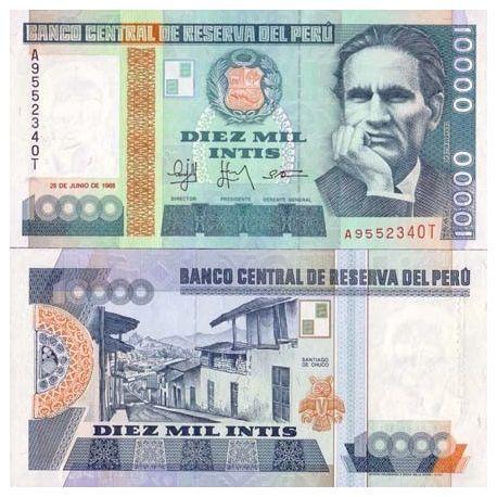 Peru - Pk # 140 - Ticket 10000 Intis