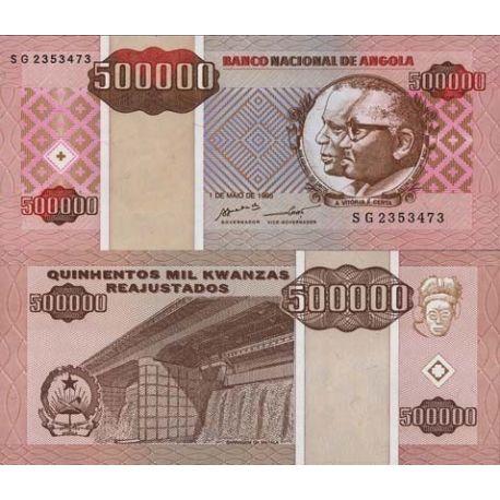Billets de banque Angola Pk N° 140 - 500000 Kwanzas