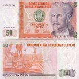Bello banconote Perù Pick numero 131 - 50 Sol