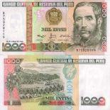 Billet de collection Perou Pk N° 136 - 1000 Intis