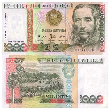 Peru - Pk # 136 - ticket 1000 Intis