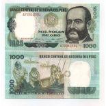 Banknoten Sammlung Peru Pick Nummer 118 - 1000 Sol