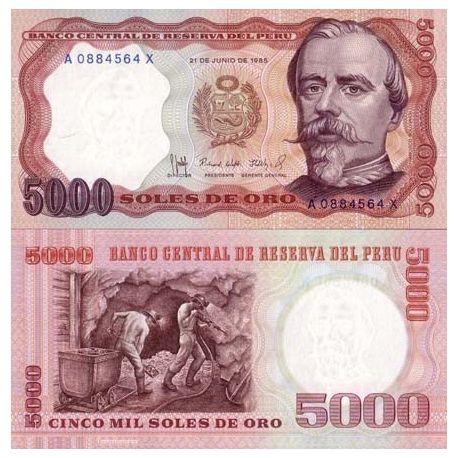 Peru - Pk No. 117 - ticket 5000 SOLES