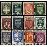 Serie Sellos France N ° 553/564 nuevos sin charnela