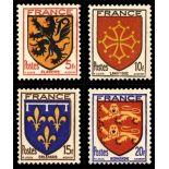 Timbres France Série N° 602/605 neuf sans charnière