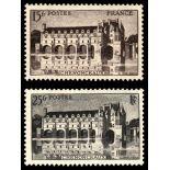 Serie francobolli di Francia N ° 610/611 Nuevo non linguellato