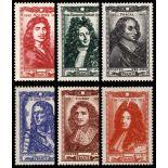 Serie francobolli di Francia N ° 612/617 Nuevo non linguellato