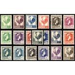 Briefmarken Reihe von France N ° 630/648 Postfrisch