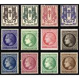 Serie francobolli di Francia N ° 670/681 Nuevo non linguellato
