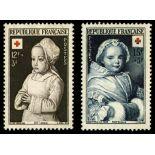 Serie francobolli di Francia N ° 914/915 Nuevo non linguellato