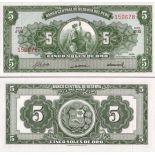 Billets de banque Perou Pk N° 83 - 5 Soles