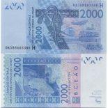 Billet de banque Afrique De L'ouest Niger Pk N° 616 - 2000 Francs