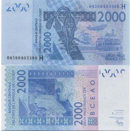 Billets de collection Billet de banque Afrique De L'ouest Niger Pk N° 616 - 2000 Francs Billets du Niger 16,00 €