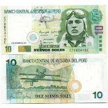 Billets banque PEROU Pk N° 175 - 10 Nouveaux soles