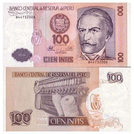 Peru - Pk # 133 - 100 note Intis