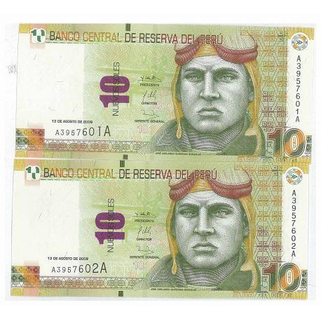 Billets de collection Billet de collection Perou Pk N° 182 - 10 Nouveaux soles Billets du Perou 11,00 €