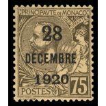 Francobollo di Monaco N° 49 nove senza cerniera
