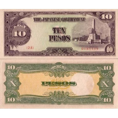 Billets de collection Billet de banque Philippines Pk N° 111 - 10 Pesos Billets des Philippines 2,00 €
