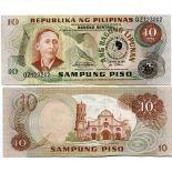 Precioso de billetes Filipinas Pick número 167 - 10 Peso