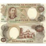 Los billetes de banco Filipinas Pick número 144 - 10 Peso