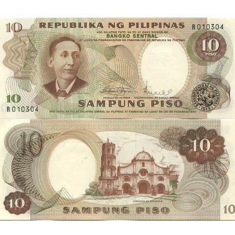 Billets de collection Billet de banque PHILIPPINES Pk N° 144 - 10 Pisos Billets des Philippines 2,50 €