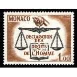 Timbre de collection de Monaco N° 661 neuf sans charnière