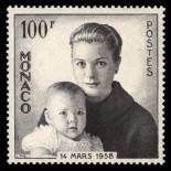 Stamp collection of Monaco N° 489 nine without hinge