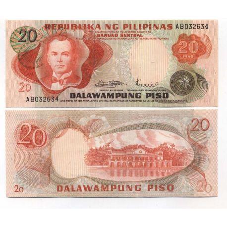 Billets de banque PHILIPPINES Pk N° 155 - 20 Pesos