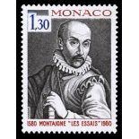 Timbre de collection de Monaco N° 1227 neuf sans charnière