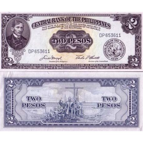Billet de collection Philippines Pk N° 134 - 2 Piso