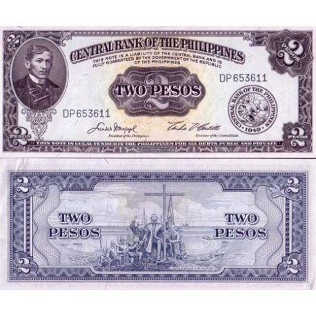 Billets de collection Billet de collection Philippines Pk N° 134 - 2 Piso Billets des Philippines 4,00 €