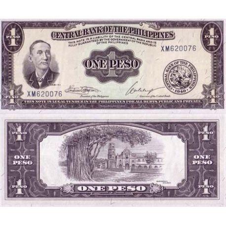 Billets de collection Billet de banque Philippines Pk N° 133 - 1 Piso Billets des Philippines 4,00 €