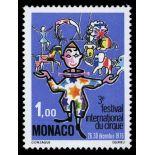 Timbre de collection de Monaco N° 1078 neuf sans charnière