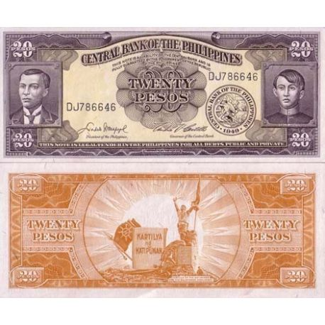 Philippines - Pk N° 137 - Billet de 20 Pesos