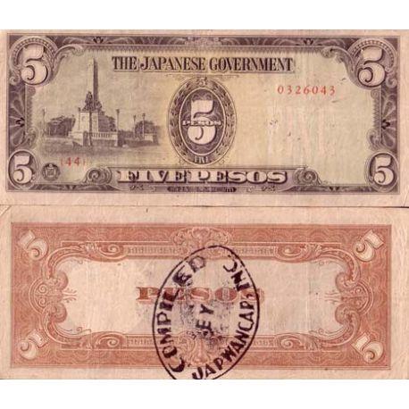 Billets de collection Billet de banque Philippines Pk N° 110 - 5 Pesos Billets des Philippines 2,00 €