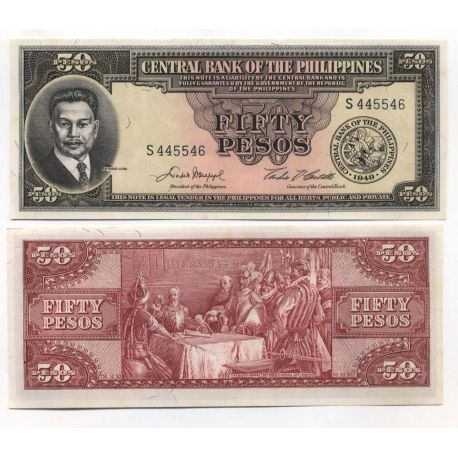 Billets banque Philippines Pk N° 138 - 50 Pesos