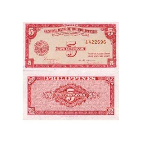 Billets de collection Billet de collection Philippines Pk N° 126 - 5 Centavo Billets des Philippines 2,00 €