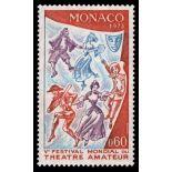 Timbre de collection de Monaco N° 927 neuf sans charnière