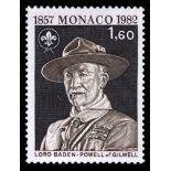Francobollo di Monaco N° 1334 nove senza cerniera