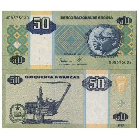 Billet de banque Angola Pk N° 146 - 50 Kwanzas